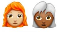 Emoji coi capelli bianchi, ricci, afro o senza: nuove capigliature per il 2018